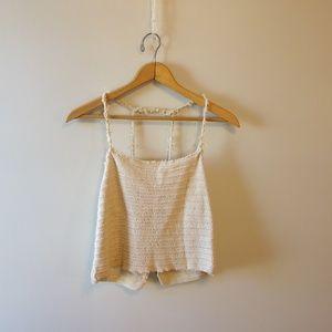 Nomadic Handmade Knit Tanktop Crop Top